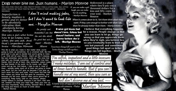 Marilyn Monroe Said That: